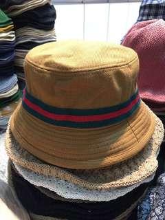 韓國帶回🇰🇷Gucci配色漁夫帽 芥黃色💛