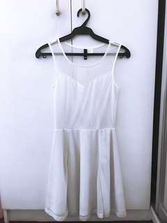 ✨NEVER WORN✨ H&M White Mesh Dress