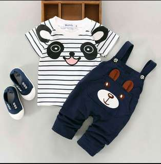 2PCS. Kids Baby Boy Girl T-shirt Tops + Pants Outfits Clothin