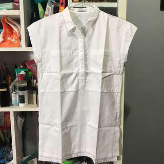 Oudre White Pocket Top