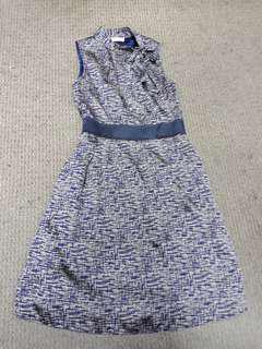Dress Biru Motif / Dark Blue Dress