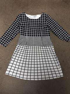 Monochrome Dress / Black & White Dress