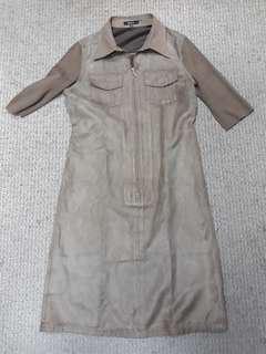 Velvet Dress / Brown Dress