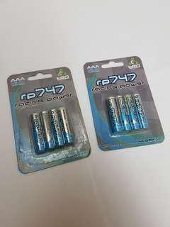 2x Racing Power RP747 Rechargable Battery AAA Ni-Mh (for Kyosho Mini-Z)