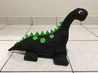 Handmade fabric dinosaur door stopper