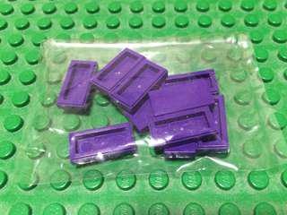 Lego 1x2 Purple Smooth Tiles