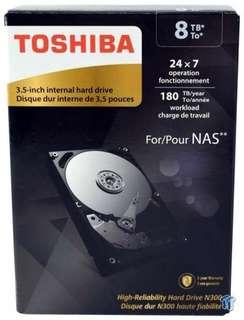 "Toshiba N300 8TB NAS 3.5"" Internal Hard Drive SATA"