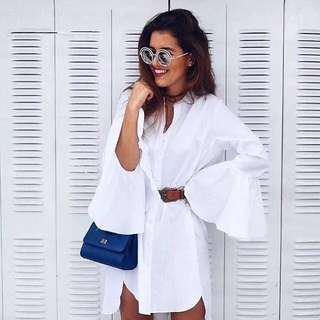 White shirt dress office outfit