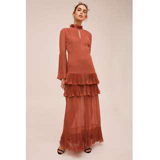 RRP $329.95 NEW Keepsake The Label HORIZONS GOWN Dress Terracotta Size S / AU 8