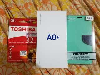 全新 三星 Samsung 行貨 A8+ 紫色 中國移動單 送皮套記憶卡
