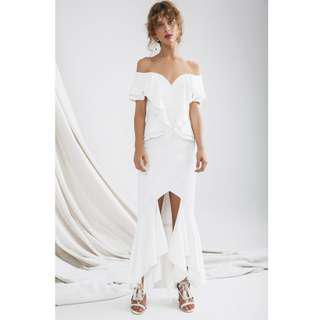 RRP $259.95 NEW C/MEO COLLECTIVE Covet Gown Wedding Dress Ivory Size S / AU 8