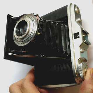德制Agfa ISOLETTE 古董伸縮皮腔 6x6 120菲林相機 咖啡館cafe 紅茶館 懷舊擺設