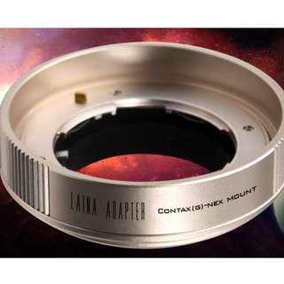 超值LAINA Contax G to Sony NEX E mount 香檳金色 轉接對焦環Adaptor
