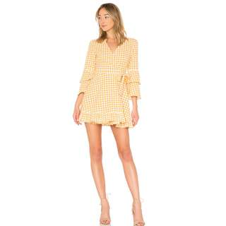 RRP $99.95 NEW The Fifth Label IDYLLIC WRAP DRESS Buttercup White Size L / AU 12