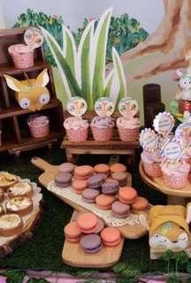Dessert table Wooden board