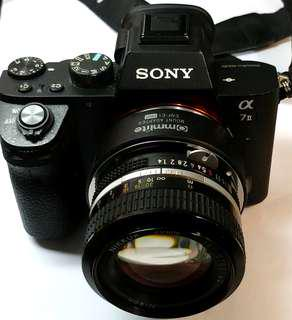 超值Nikon 50mm F1.4 AI mount 酒紅色coating鏡頭 手動鏡