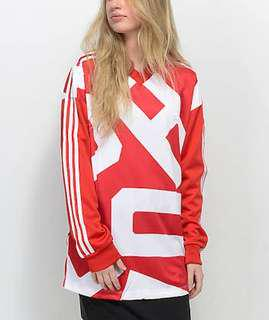Adidas red jumper