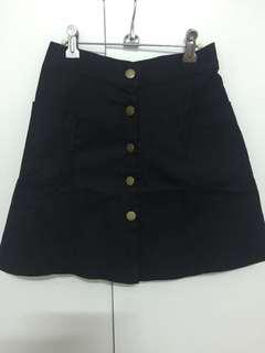 🚚 (全新)黑色牛仔鬆緊短裙