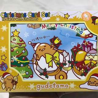 Sanrio Gudetama Christmas Card set with stickers