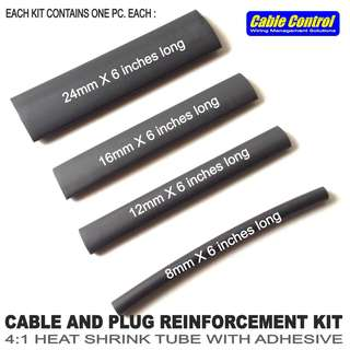 Cable Control CABLE and PLUG REINFORCEMENT KIT , charger wire repair kit