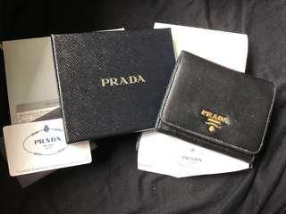 Prada Wallet 黑色三摺銀包