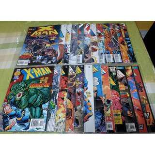 X-Man Comics 1995-1997 24 Issues 2-8, 14-17, 19-24, 26-31 (NEAREST MRT)