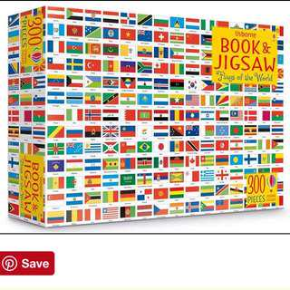 Flags of the World Puzzle & Coloring Book Set