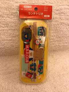 Sanrio vintage mr bear mr bear's dream 食具set 1997'