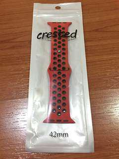NEW Apple Watch Strap 42mm Series 1,2,3 (NIKE Design) RED