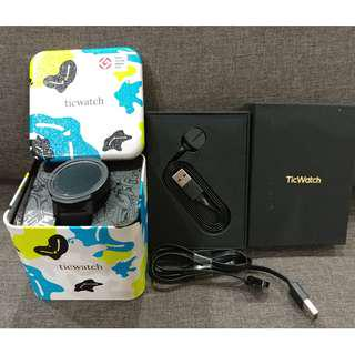 Ticwatch E Smartwatch Bundle (Almost NEW + Extra cable & strap)