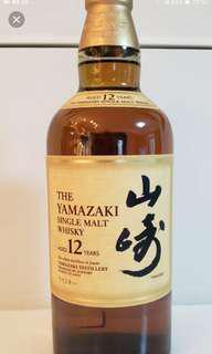 山崎12年威士忌700ml with box (日版)