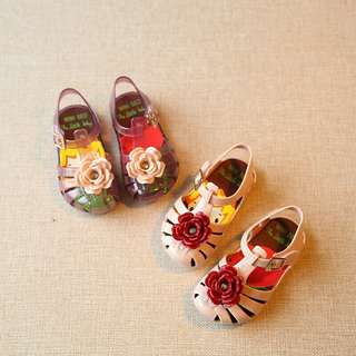 [PO] Girl's Flower Jelly Shoes