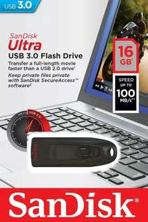 Flashdisk Sandisk 16GB Ultra 3.0