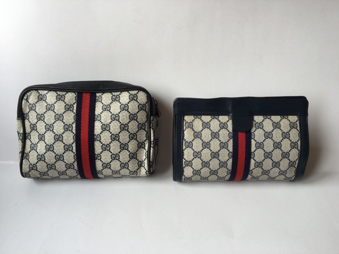 05a9fc56ae0 Authentic Gucci Vintage GG Monogram Clutch Bag