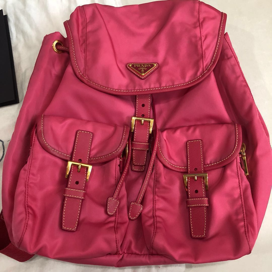 621c106d9abd Authentic sweet pink Prada backpack