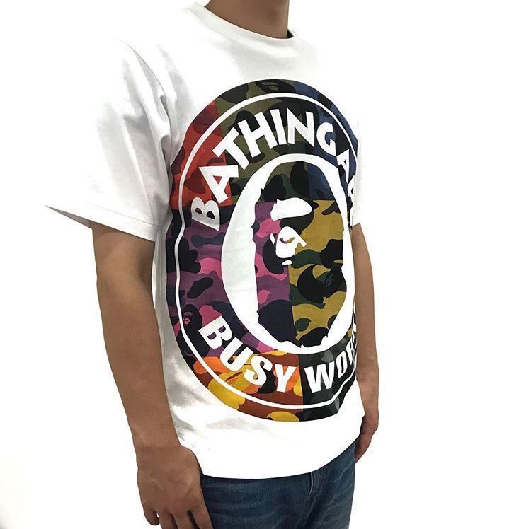 df4432d8 BAPE MIX CAMO BIG BUSY WORKS TEE, Men's Fashion, Clothes, Tops on ...