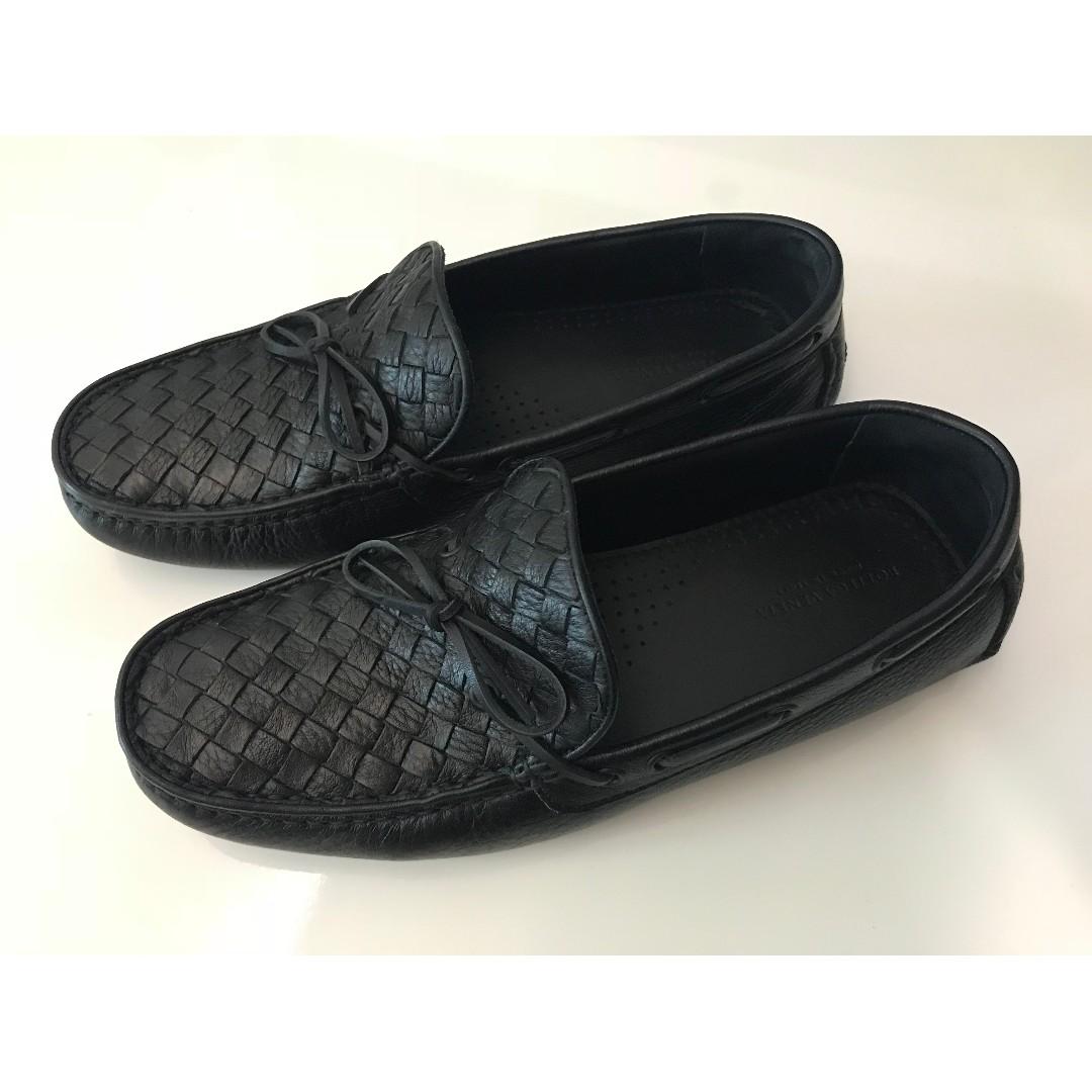 d83b9ac04db Bottega Veneta Men s Leather Loafers Moccasins Black