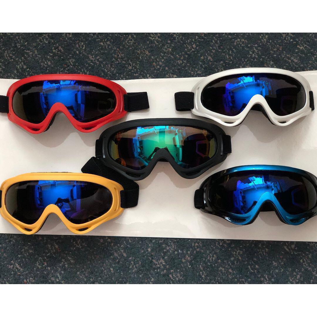 17x9cm Goggles Colorful Lens Bluish Lens For MTB Road Bicycle Bike Ski