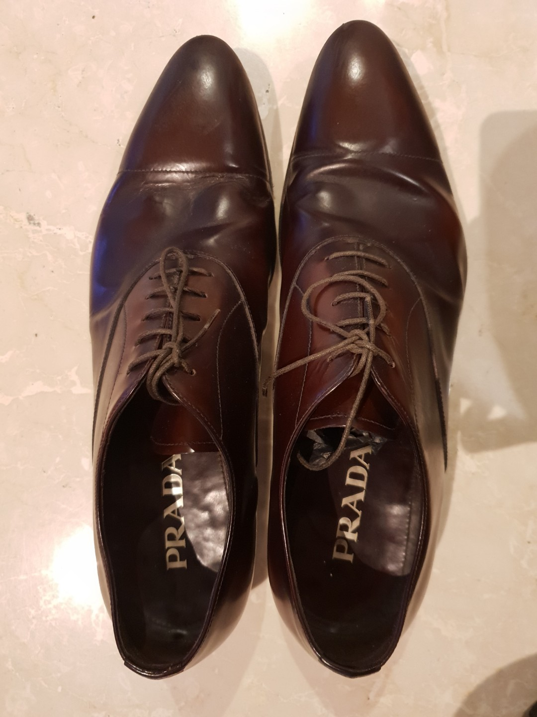 Bruciato Prada Leather Shoes
