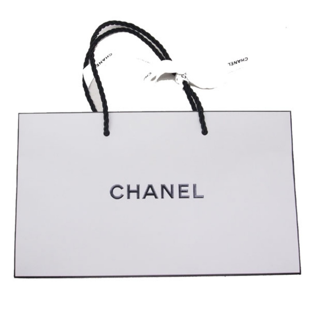 91e552df7db6 Authentic Chanel White Small Paper Bag with White Ribbon (Size: L 24 ...