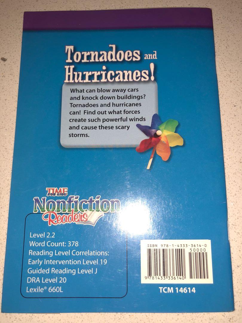 Children's books : non fiction reader - Tornadoes and Hurricanes, Books &  Stationery, Children's Books on Carousell