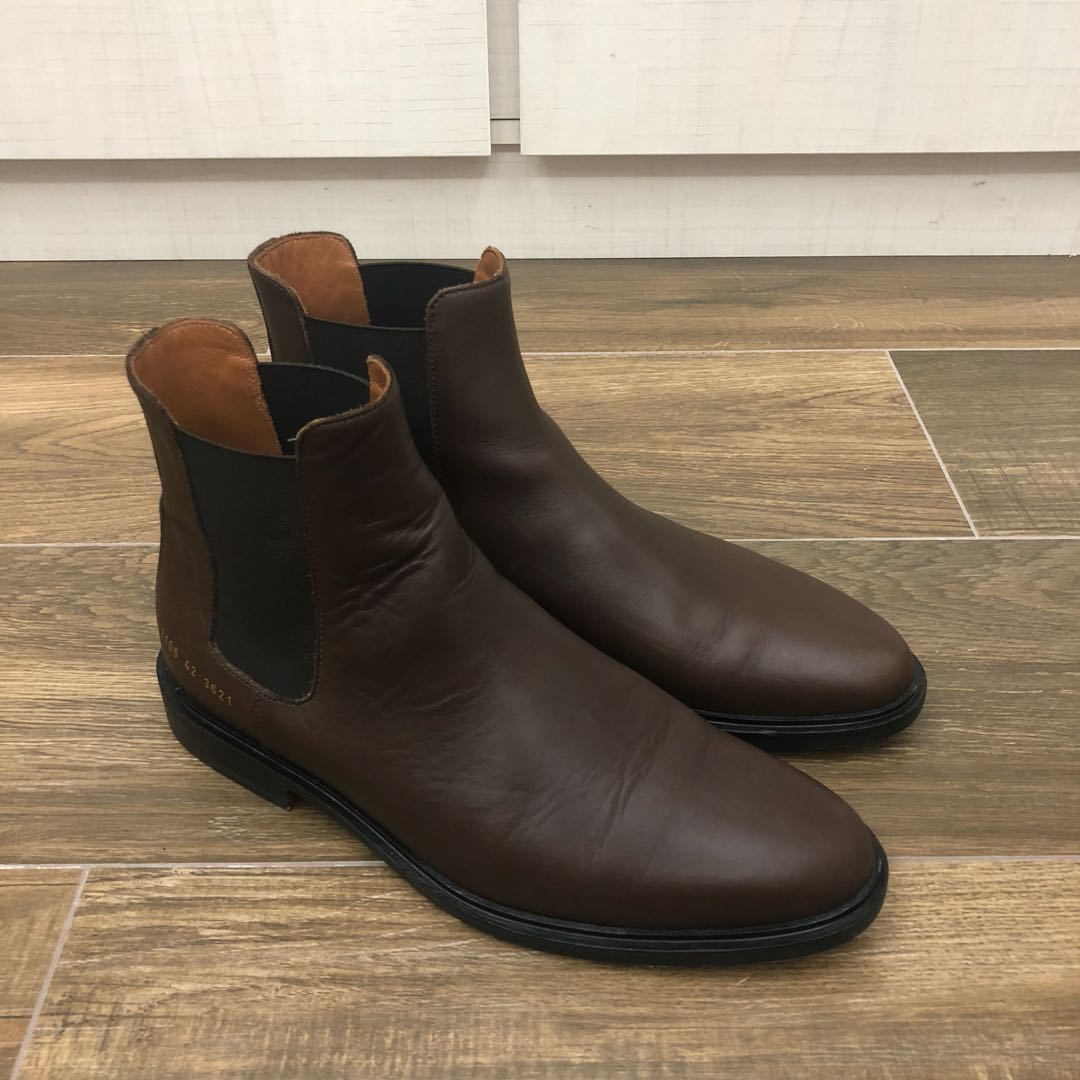 c07877f355881a Common Projects Chelsea Boots Brown Leather EU42