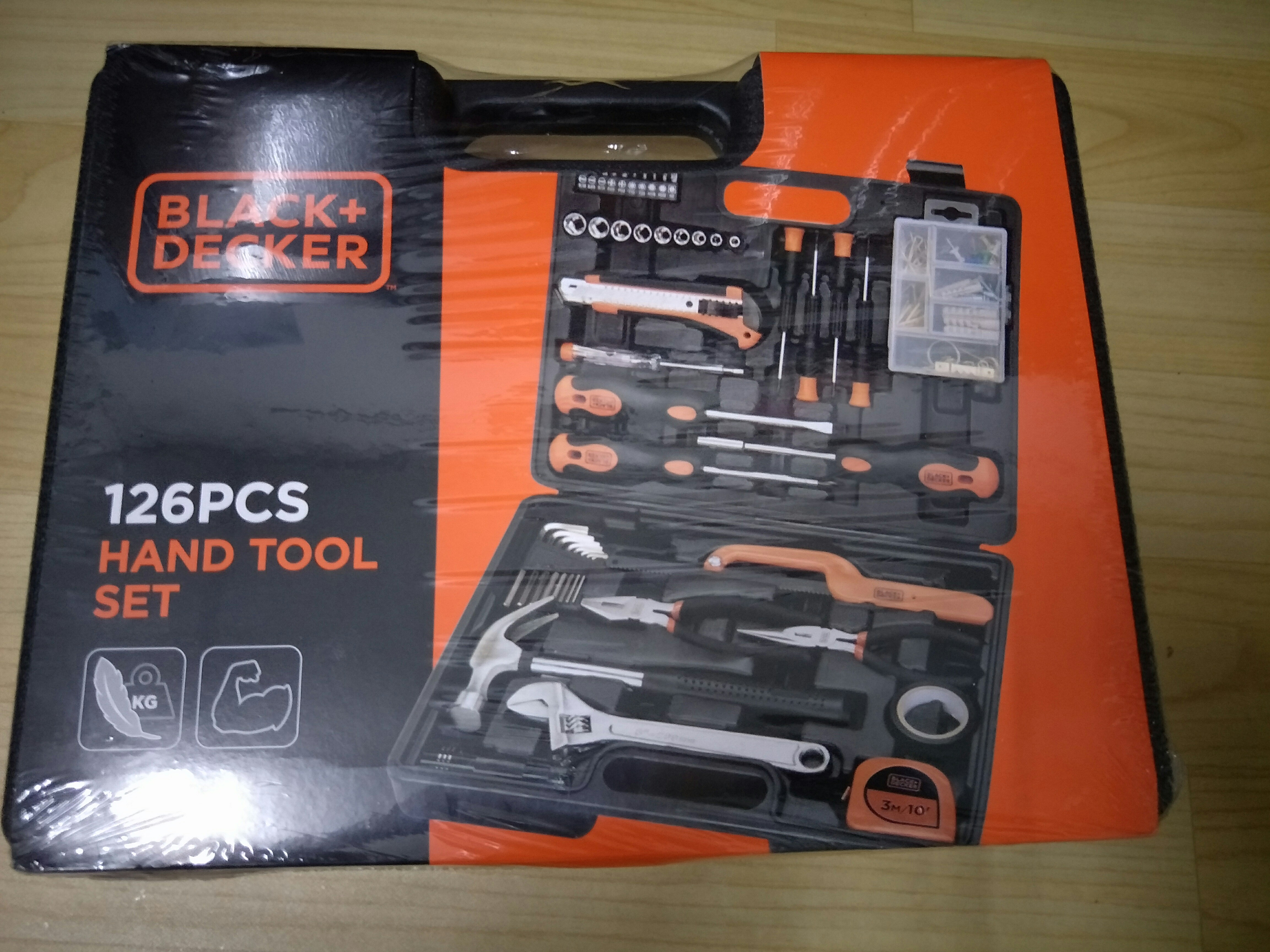 Black+Decker 126pcs Hand Tool Set, Everything Else on Carousell