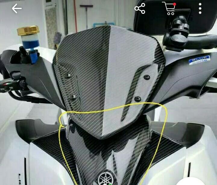 Cover tameng depan carbon kevlar motor yamaha aerox 155