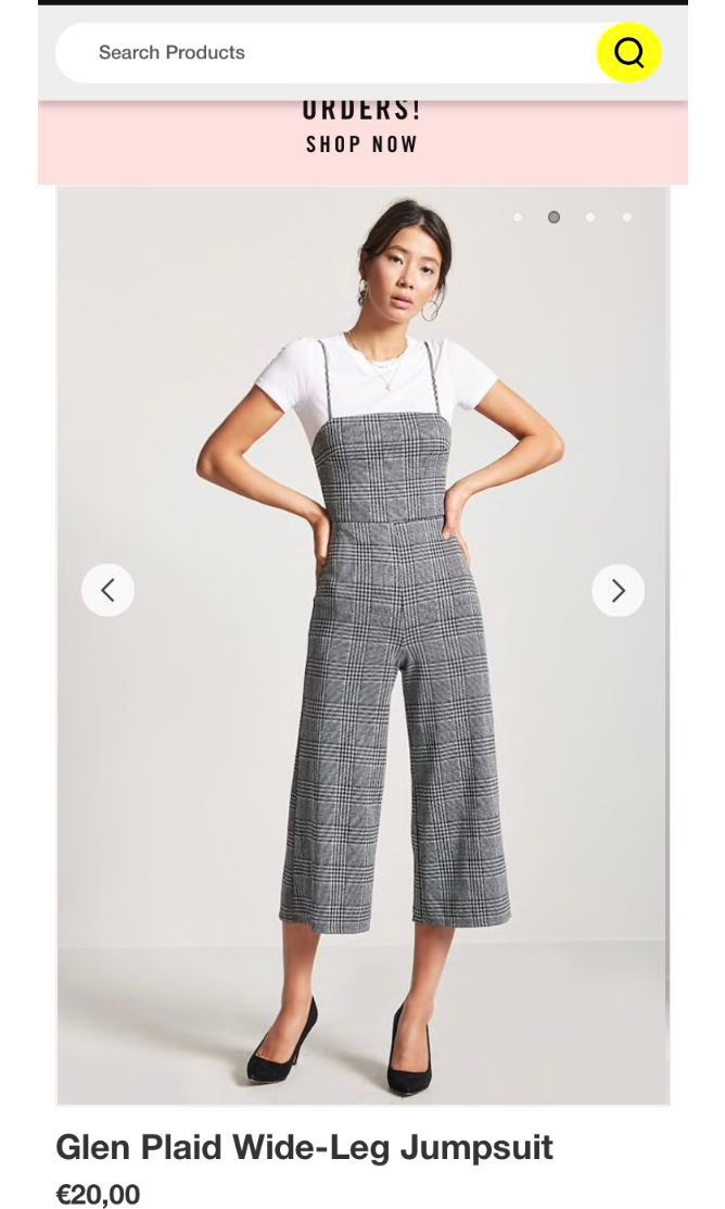 0579832c0be F21 plaid jumpsuit