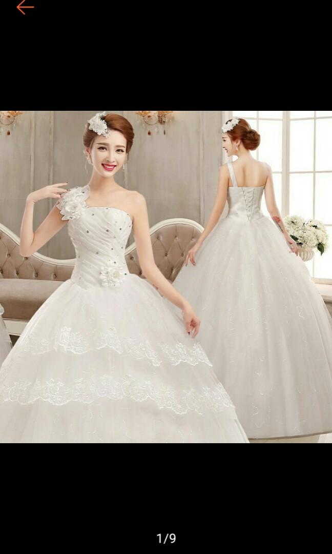 Fashion Wedding Dress Big Size Gown Brides Dress Preloved Womens