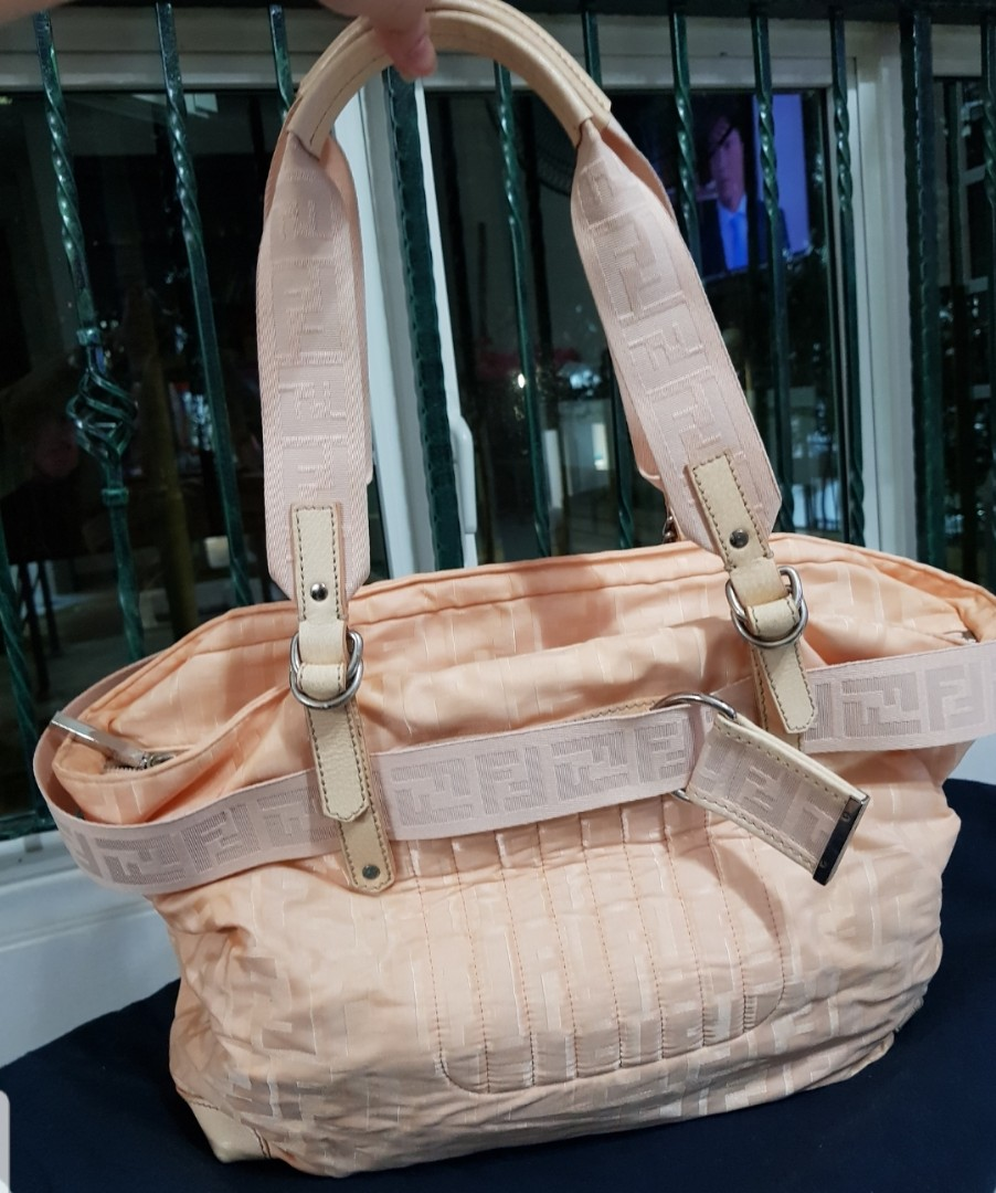 996e2fb7dd8c Fendi Zucca Nylon Zip-Code Tote Bag