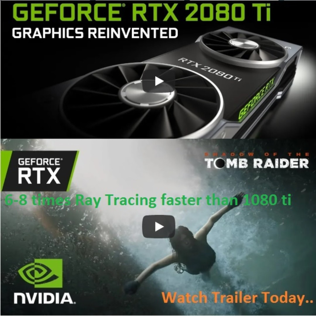 GTX 1080 Ti  !! Nvidia's new RTX 2080 Ti, RTX 2080 and RTX 2070 high-end  graphics cards  (20 Sep 2018 all out in Worldwide Store)