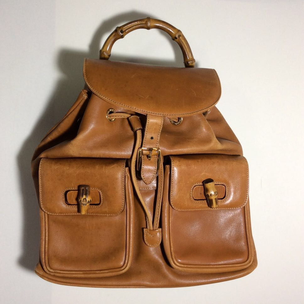 e6cf42b4120a Gucci Bamboo Vintage Backpack (Caramel Brown), Luxury, Bags ...