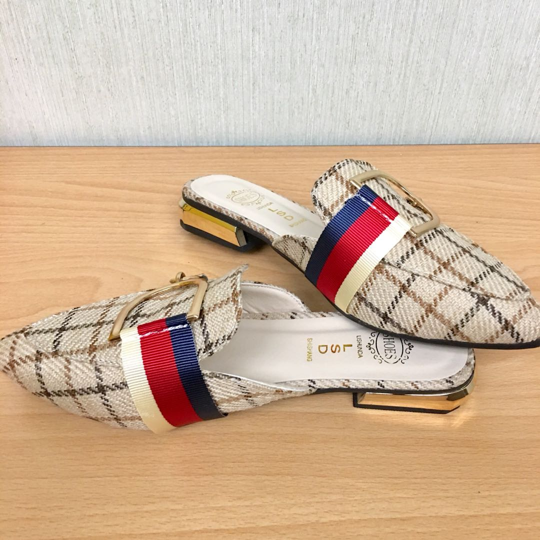 79d848ee434 Gucci Inspired Sandals Half Shoes on Carousell
